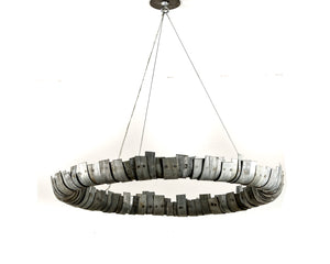 STUDIO Collection - Circulum -  Wine Barrel Ring Chandelier - 100% Recycled and Salvaged Wine Barrel Rings - Free US Shipping!