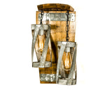 "VITALI Collection - ""Double Vitali"" - Wine Barrel Wall Sconce"