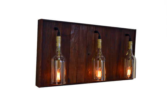 RUSTIC Collection - Baza - Wine Barrel and Bottle Bath Vanity Light
