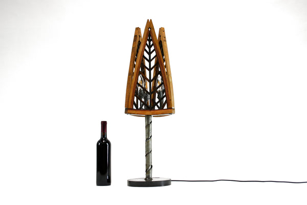VEDI Collection - Folha - Wine Barrel Ring and Wood Table Lamp