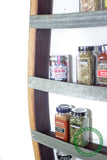 SPICE RACK Collection - Big Thyme - Extra Large Wine Barrel Spice Rack