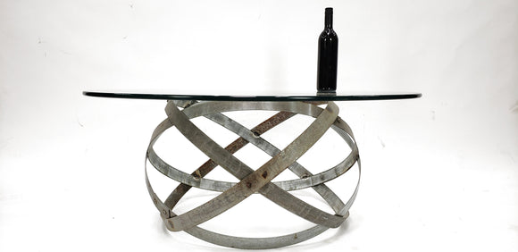 Wine Barrel Ring Coffee Table