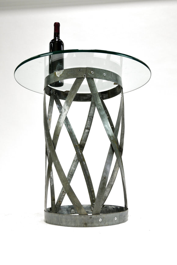 VARUN - Wine Barrel Ring Side Table - 100% Reclaimed and Recycled