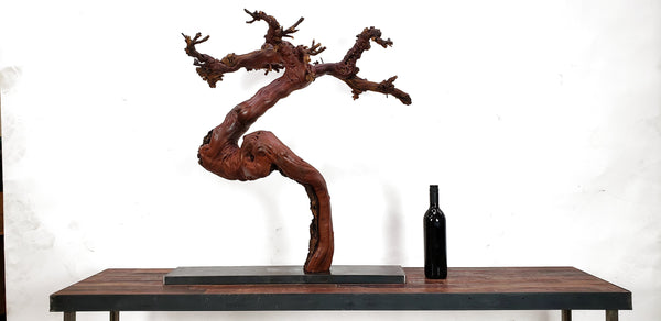 Zen Grape Vine Art From Opus 1 - made from retired Napa Cabernet grapevine - 100% Recycled and Reclaimed Free Shipping (US Only)