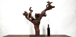 Grape Vine Art From Opus 1 - made from retired Napa Cabernet grapevine - 100% Recycled and Reclaimed Free Shipping (US Only)