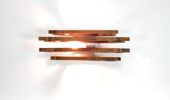 Wine Barrel Wall Sconce - Menuma - Made from reclaimed California wine barrels - 100% Recycled & Free US Shipping!