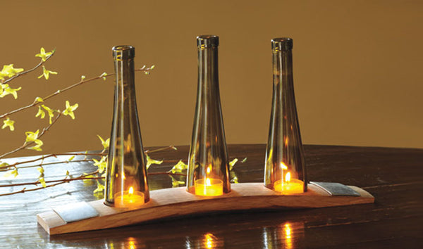 Wine Barrel and Bottle Candle holder - Limited Edition