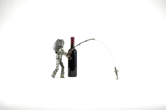 Female Wine Barrel Ring Wine Bot - Fly Fishin' - 100% Recycled & Free US Shipping