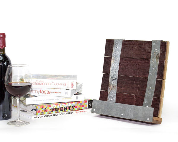 ORGANIZATION Collection - RECIPE - Wine Barrel Cookbook or Tablet Stand
