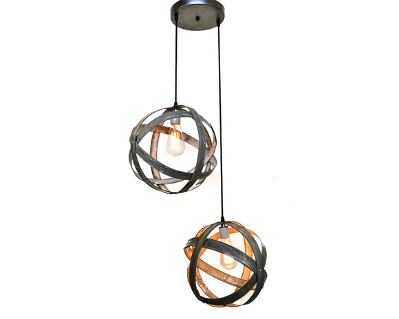 ATOM Collection - Plicate - Wine Barrel Chandelier