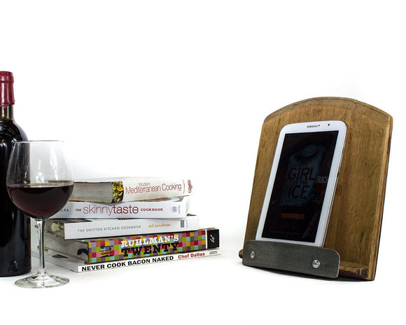 Tuki - Wine Barrel Cookbook Stand and Tablet Holder