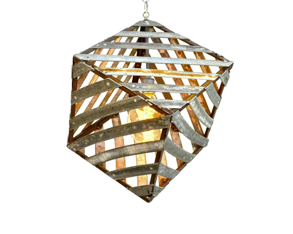 "FINO Collection - ""Corasa"" - Wine Barrel Ring Pendant Light"