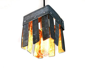 LOFT Collection - Hexahedron - Wine Barrel Pendant Light