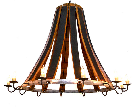 CRAFTSMAN Collection - Lacrima - Wine Barrel Teardrop Chandelier