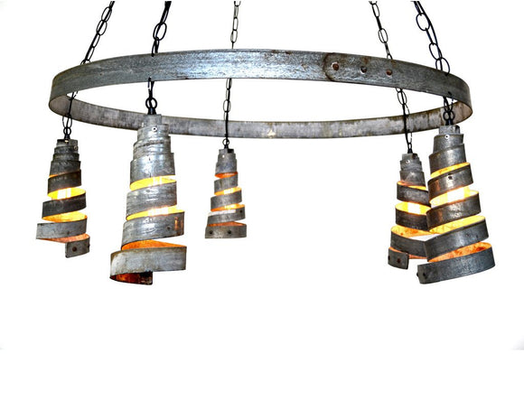 CORBA Collection - Bajan Curvilinear - Wine Barrel Ring Chandelier