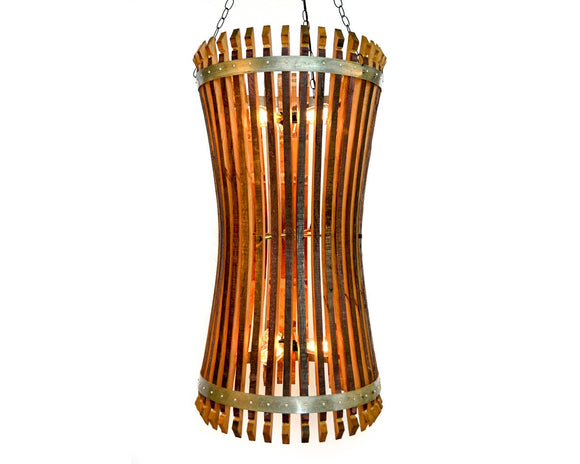 CRAFTSMAN Collection - Dromiacea - Wine Barrel Catch Chandelier