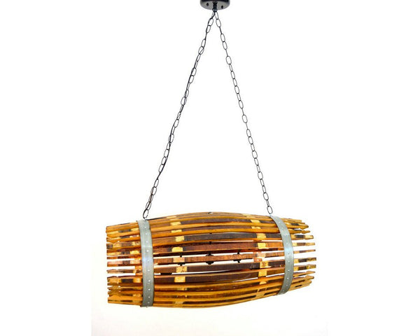 CRAFTSMAN Collection - Quadratus - Wine Barrel Chandelier