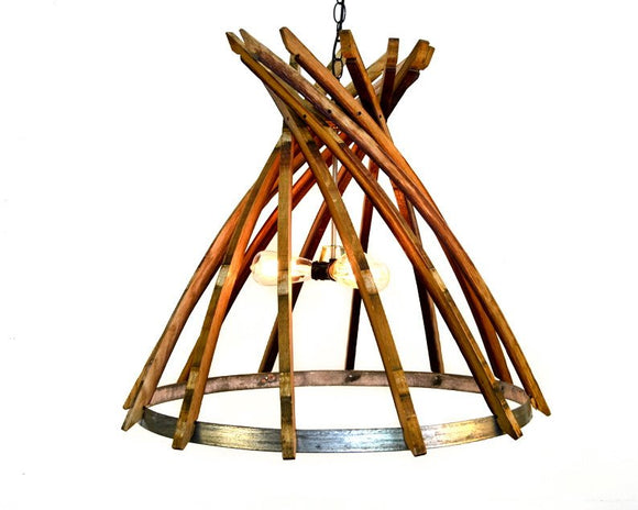 CRAFTSMAN Collection - Botiga - Wine Barrel Chandelier