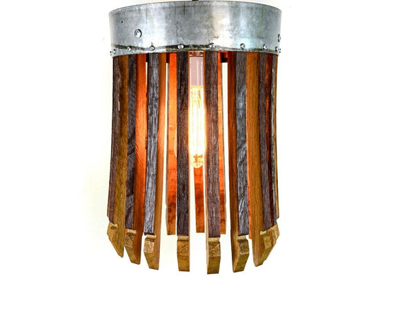 CRAFTSMAN Collection - Kinoe -Wine Barrel Flush Mount Ceiling Light