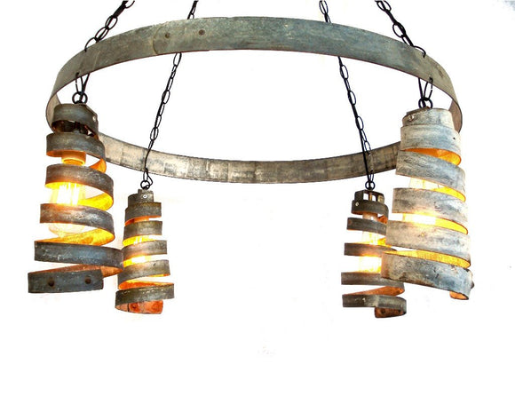 CORBA Collection - Bajan Celestial - Wine Barrel Ring Chandelier