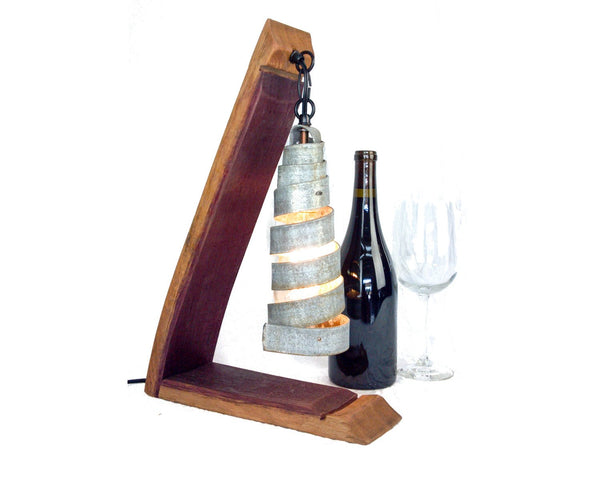 TUSCAN Collection - Studioso - Wine Barrel Desk Lamp