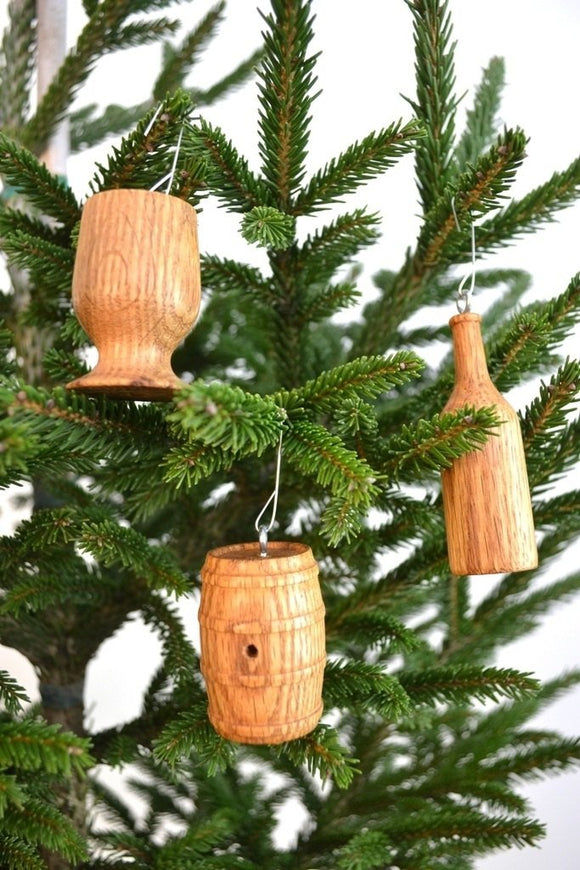 HOLIDAY - Wine Barrel Ornaments