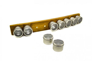 SPICE RACK Collection - FLAVOR - Wine Barrel Stave Magnetic Spice Rack