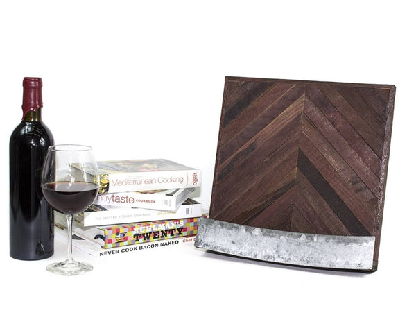 ORGANIZATION Collection - Chevron - Wine Barrel Cookbook or Tablet Stand