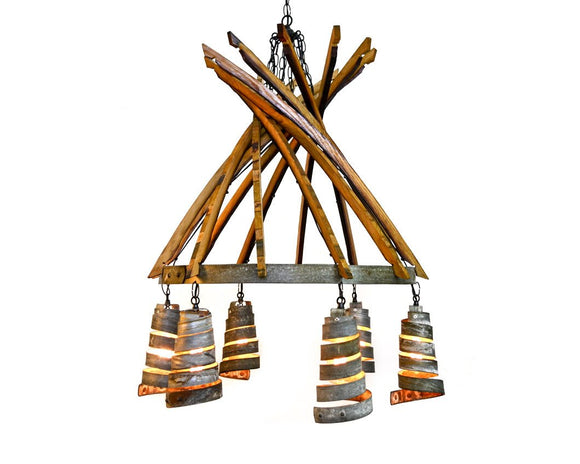 CORBA Collection - Fascino - Wine Barrel  and Corba pendant Chandelier