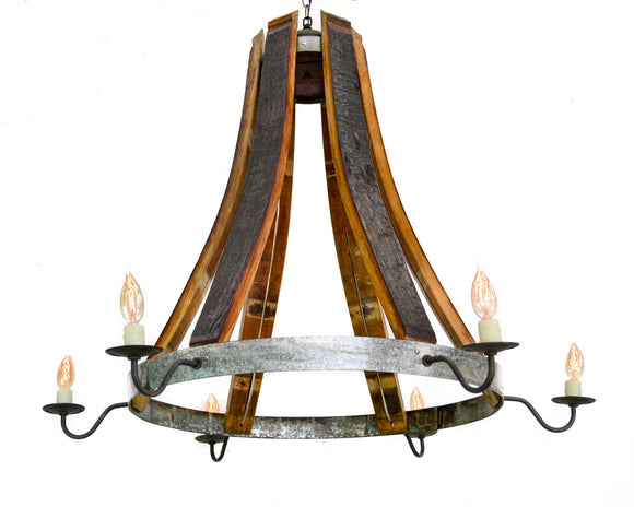 CRAFTSMAN Collection - Castanea - Wine Barrel Teardrop Chandelier