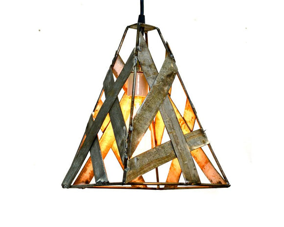 SAFARI Collection - Brushfire - Wine Barrel Pendant Light