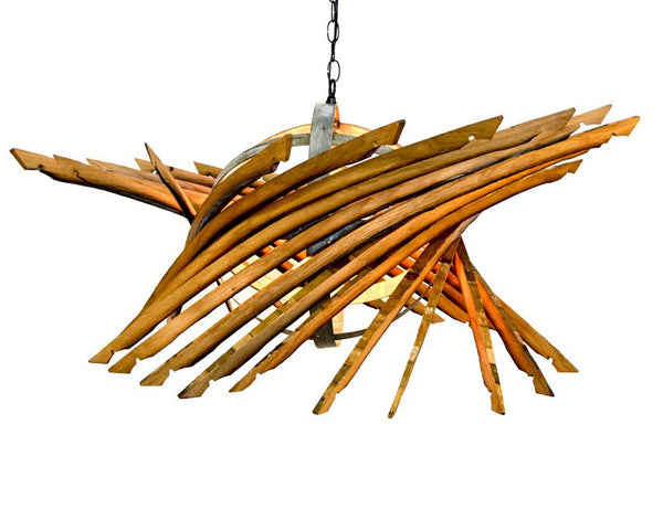 CRAFTSMAN Collection - Orbit - Wine Barrel Chandelier