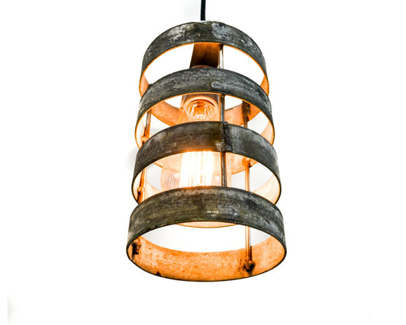 KARTA Collection - Lidara - Wine Barrel Ring Cylinder Pendant Light