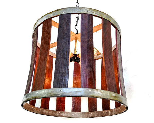CRAFTSMAN Collection - Drum -  Wine Barrel Chandelier