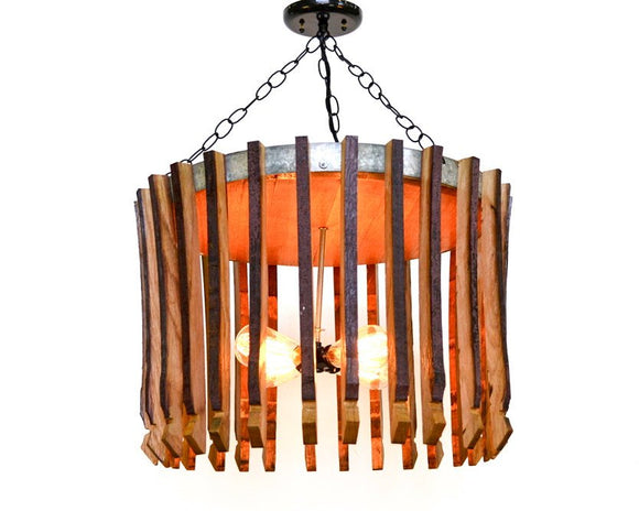 CRAFTSMAN Collection - Hujan - Wine Barrel Chandelier
