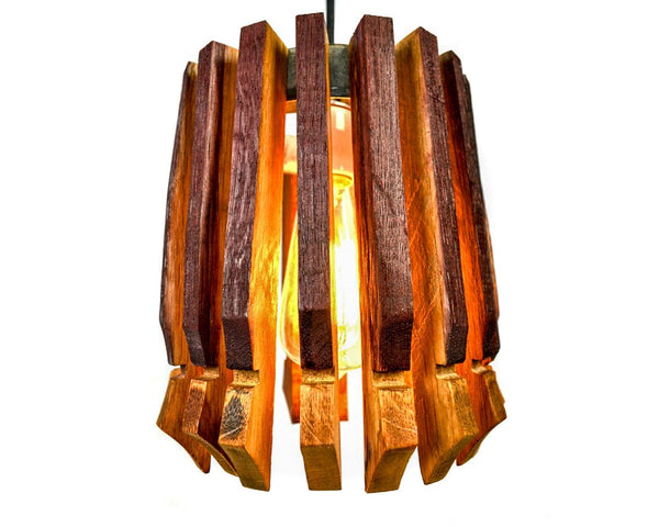 CRAFTSMAN Collection - Cuspidate - Wine Barrel Pendant Light