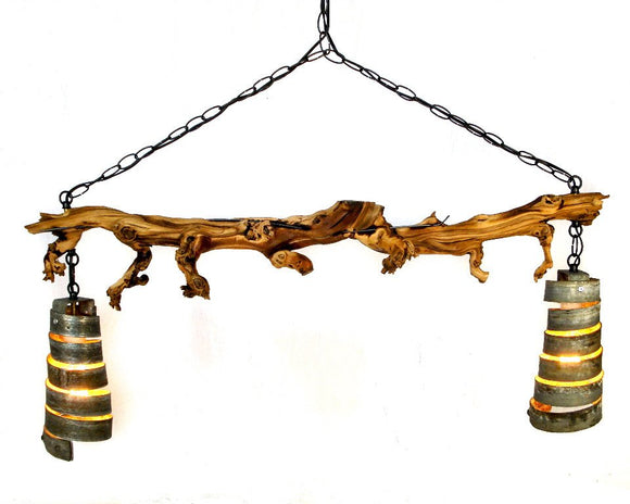 OLD VINE Collection - Marsanne -Grapevine and Barrel Ring Chandelier