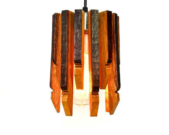 CRAFTSMAN Collection - Saggitate - Wine Barrel Pendant Light
