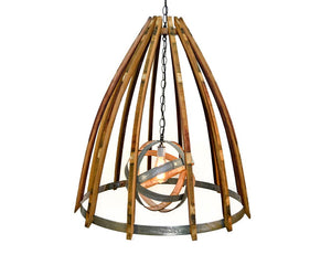CRAFTSMAN Collection - Coprinus - Wine Barrel Chandelier