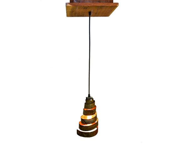 RUSTIC Collection - Aralia - Reclaimed Barn Wood and Wine Barrel Ring Adjustable Chandelier