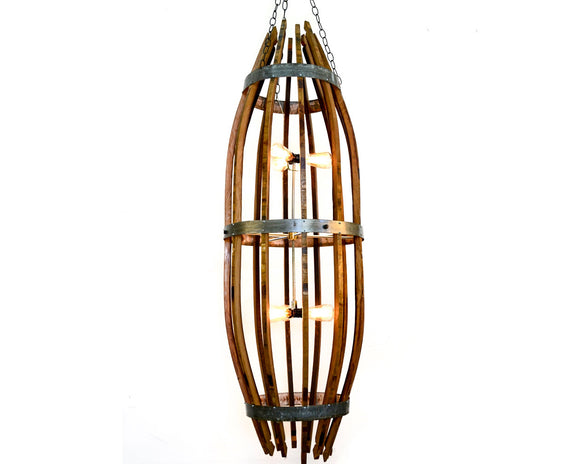 CRAFTSMAN Collection - Double Kraken - Wine Barrel XL Catch Chandelier