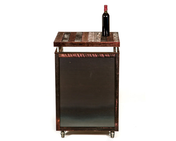 HOST Collection - Kursu - Hostess Stand - Wine Oak Staves with chalkboard