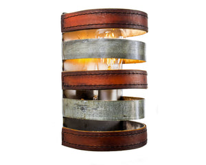 LEATHER & BARREL RING Collection - Mezza Luna - Wall Sconce