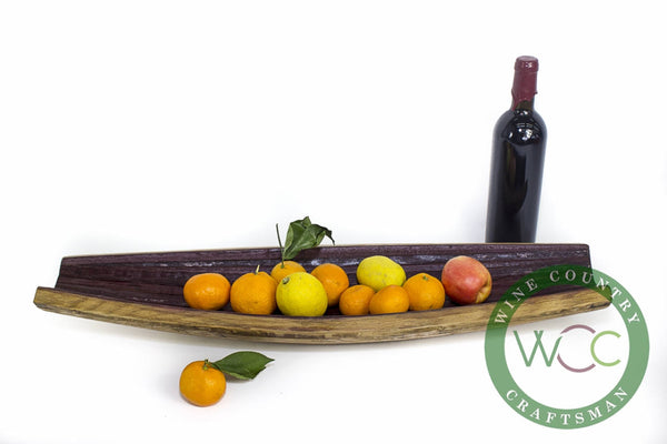 SERVING TRAY  - Barca - Wine Barrel Stave Fruit Tray