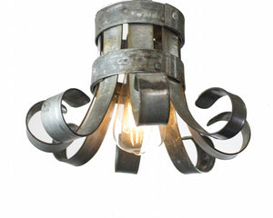 BLOOM Collection - Blossom - Wine Barrel Ring Flush Mount Light