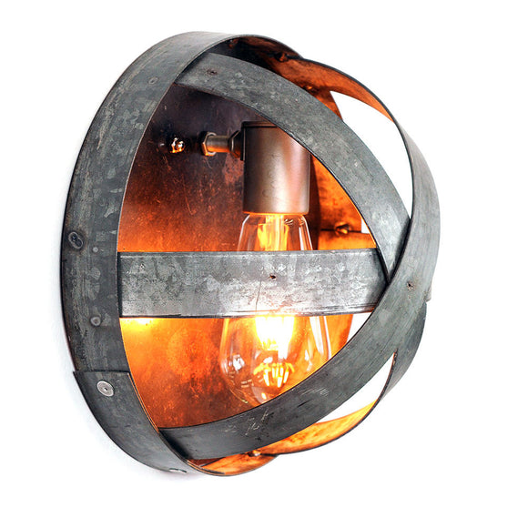 ATOM Collection - Arc -  Wine Barrel Ring Sconce