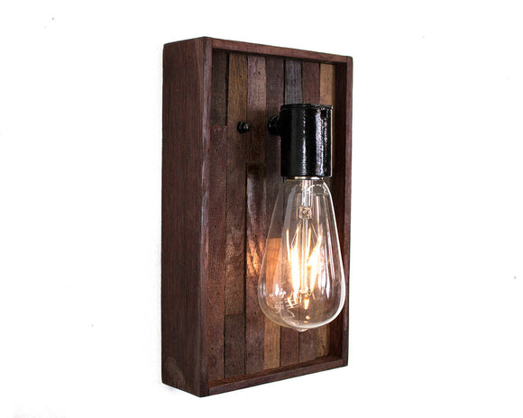 VINUM Collection - Unum - Wine Tank Wood Sconce