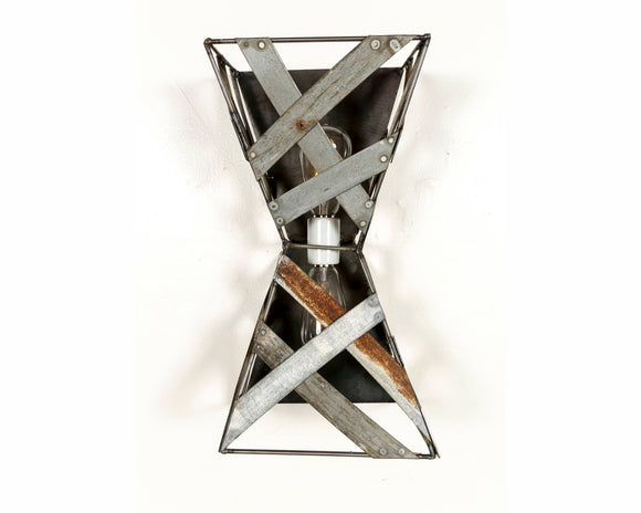 SAFARI Collection - Hourglass - Wine Barrel Wall Sconce