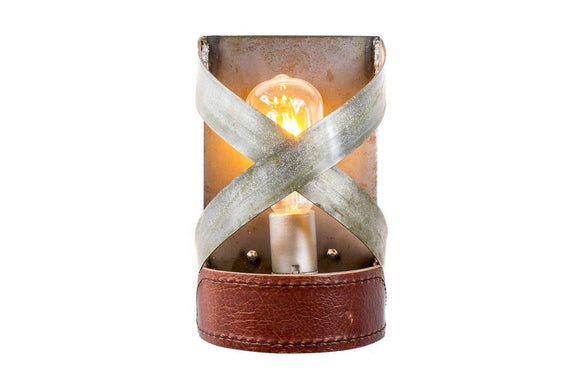 LEATHER & BARREL RING Collection - Kuros - Wall Sconce