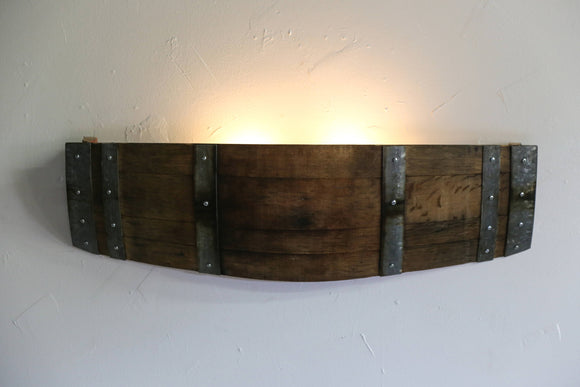 BARREL Collection - Quadrans - Wine Barrel Wall Sconce